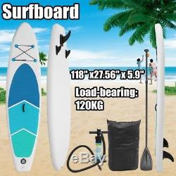 10FT 3M SUP Inflatable Surfing Board Soft Surf Stand Up Paddle Board 300X76X15CM
