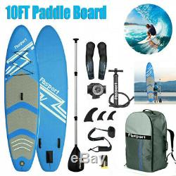10FT Inflatable Paddle Board SUP Stand Up Paddleboard & Accessories 6 Thick