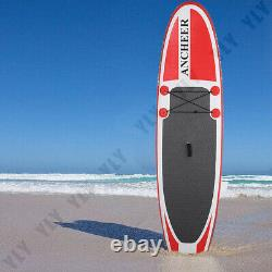 10FT Inflatable Stand Up Paddle Board SUP Surfboard Adjustable Non-Slip Deck-US