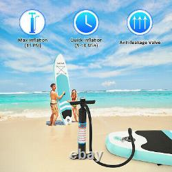 10FT Inflatable Stand Up Paddle Board SUP Surfboard Non-Slip With Complete Kit#