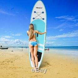 10FT Inflatable Stand Up Paddle Board SUP Surfboard WithBag Adjustable Fin Paddle