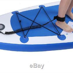 10'10 Inflatable SUP Stand up Paddle Board Surfboard Adjustable Fin Paddle