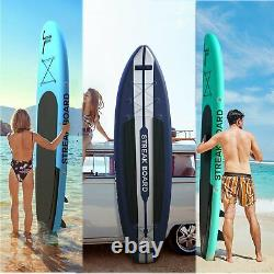 10/11 FT 6'' Deck Inflatable Paddle Board Stand Up Surfing No-Slip All Level SUP