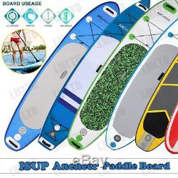 10' /11' Inflatable SUP Stand up Paddle Board Surfboard Adjustable Fin Paddle US