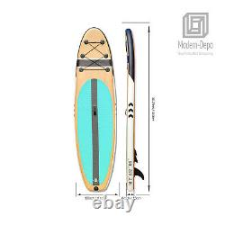 10'2 Stand Up Inflatable Paddle Board 6 Thick Non-slip SUP with Complete Kit