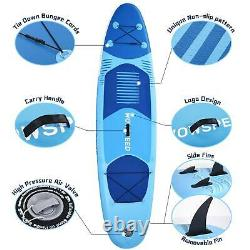10.5FT Inflatable Stand Up Paddle Board SUP Surfboard complete 6'' thick US kit
