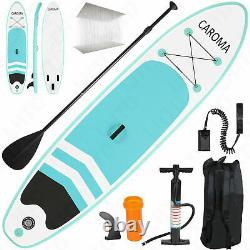 10.5ft Inflatable Stand Up Paddle Board Surfboard Non-Slip with complete kit