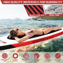 10.5ft Stand Up Paddle Board Inflatable SUP Surfboard Kayak Seat kit 6''Thick