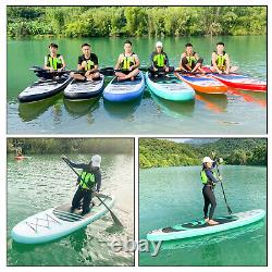 10'6 10ft Inflatable SUP Paddle Board Stand Up Surfboard Surfing Paddleboard