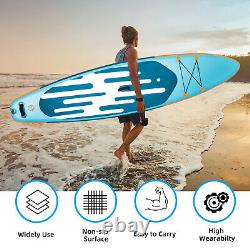 10.6' Inflatable Stand Up Paddle Board SUP Surfboard Kayak Backpack Hydro-Force