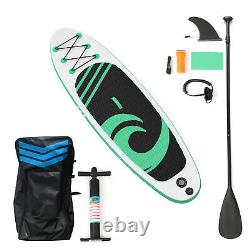10'6 Inflatable Stand Up Paddle Board SUP Surfboard Kayak Canoe Water Sport Fun