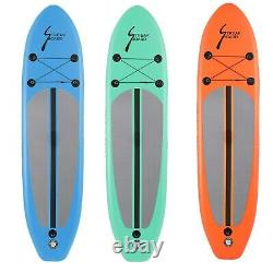 10 FT Inflatable Stand Up Paddle Board SUP Surfboard with complete kit Multi-color