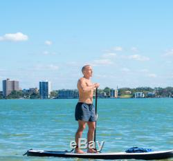 10 Foot 6 Inch Tall Inflatable Stand Up Paddle Board SUP With Travel Backpack+More