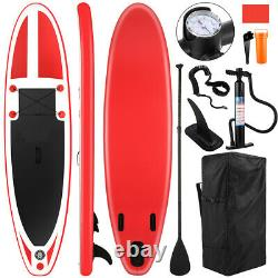 10 Foot Inflatable Stand Up Paddle Board SUP & Kayak Complete Kit White/Blue/Red