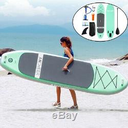 10 Foot Inflatable Stand Up Paddle Board SUP with Fin Adjustable Paddle Backpack