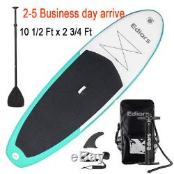 10' Ft Inflatable Stand Up Paddle Board SUP with Fin Adjustable Paddle Backpack