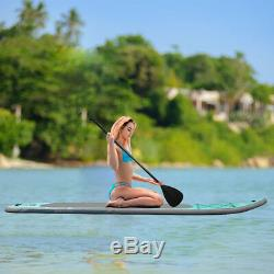 10' Inflatable SUP Stand up Paddle Board Surfboard Adjustable Fin Paddle
