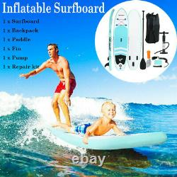 10' Inflatable Stand Up Paddle Board Non-Slip Deck 6'' Thick with Complete Kit