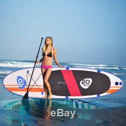 10' Inflatable Stand Up Paddle Board SUP Fin Adjustable Paddle Backpack