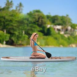 10' Inflatable Stand Up Paddle Board SUP Surfboard Leash Adjustable Paddle