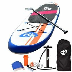 10'Inflatable Stand Up Paddle Board SUP with Fin Adjustable Paddle Backpack