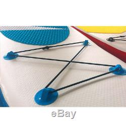 10' Inflatable Stand Up Paddle Board SUP with Fins Adjustable Paddle Backpack