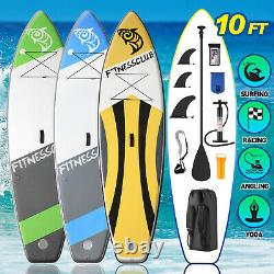 10' Inflatable Stand Up Paddle Board Surfboard SUP 3 Fins withComplete Kit Bag