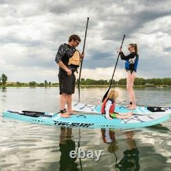 10'Inflatable Super Stand Up Paddle Board Surfboard Adjustable Fin Paddle