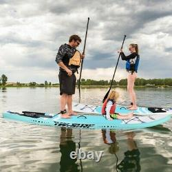 10' Inflatable Super Stand Up Paddle Board Surfboard Adjustable Fin Paddle Beach
