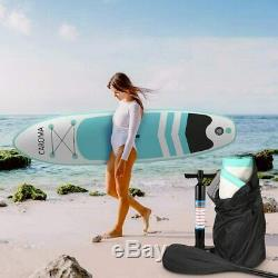 10' Inflatable Super Stand Up Paddle Board Surfboard Adjustable ISUP with Pump