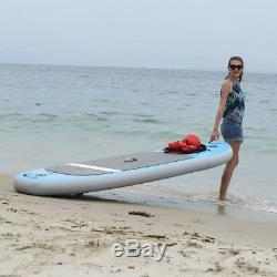 10 ft Inflatable Stand Up Paddle Board iSUP with Adjustable Paddle