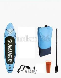 10ft Inflatable SUP Stand Up Paddle Board Float Adult Paddle Pump Set Carry Bag