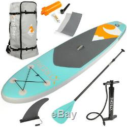 10ft Inflatable SUP Stand Up Paddleboard Water Sport Aqua Kayak with Backpack Kit