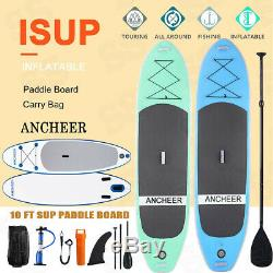 11'/10' Inflatable Stand Up Paddle Board SUP With Fin Adjustable Paddle Backpack
