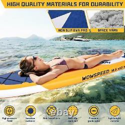 11 FT Long Inflatable Stand Up Paddle Board Complete Kit 6'' Thick Yellow SUP