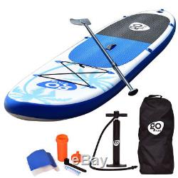 11' Goplus Inflatable Stand Up Paddle Board SUP Fin Adjustable Paddle Backpack