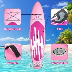 11 Inflatable Oceana Stand Up Paddle Board with complete Kit Pump Kayak, Pink