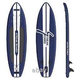 11' Inflatable Stand Up Paddle Board Non-Slip Deck with SUP Accessories 6'' Thick