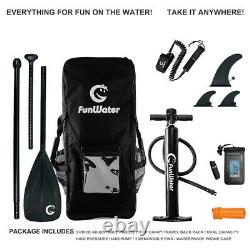 11' Inflatable Stand Up Paddle Board SUP Surfboard with complete kit 6''thick