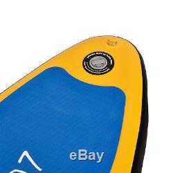 11' Inflatable Stand Up Paddle Board Surfboard SUP Adjustable Fin Paddle Yellow
