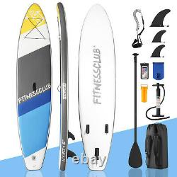 11' Inflatable Stand Up Paddle Board Surfboard SUP withFin+Complete Kit+Bag