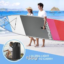 11'Inflatable Stand Up Paddle Board Surfboard SUP withFin+Complete Kit+Bag 6thick