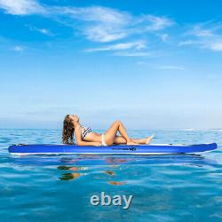 11' Inflatable Stand Up Paddle Board WithAdjustable Paddle Carry Bag Adult