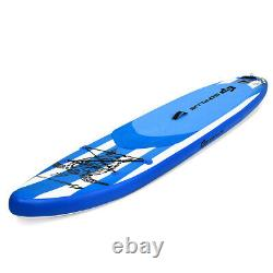 11' Inflatable Stand Up Paddle Board with Adjustable Paddle & Carry Bag Blue