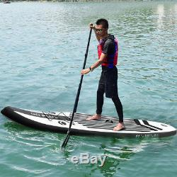 11' Inflatable Stand Up Paddle Board with Adjustable Paddle Travel Backpack New