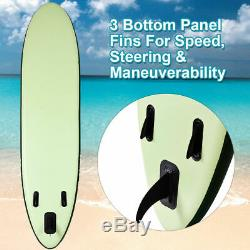 11' Inflatable Stand up Paddle Board Surfboard SUP With Bag Adjustable Paddle Fin