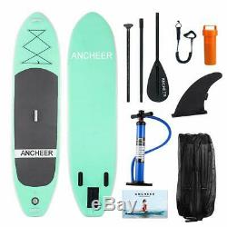 11'x32x6 Inflatable Stand Up Paddle Board SUP WithFin Adjustable Paddle Backpack