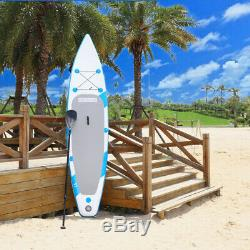 11' x 30 Inflatable SUP Stand up Paddle Board Surfboard Adjustable Fin Paddle