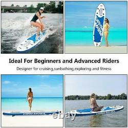 11' x 32 Inflatable SUP Stand up Paddle Board Surfboard Adjustable Fin Paddle