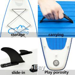 12FT Inflatable Stand up Paddle Board Surfboard SUP With Bag Adjustable Fin Paddle